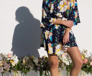 cotton, dress, and navy image