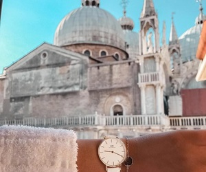 watch, architecture, and fashion image