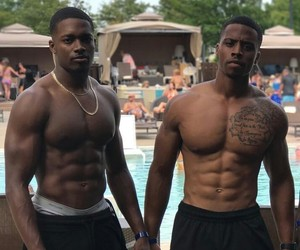 fine, pool, and black men image