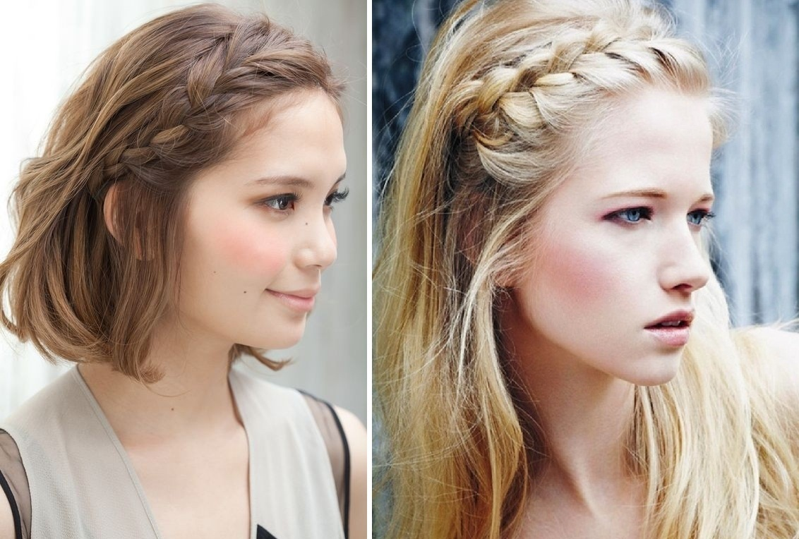 Messy Hair With Braid As Perfect School