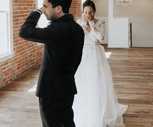 bride, white, and love image