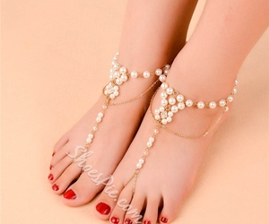 beauty, anklet, and fashion image