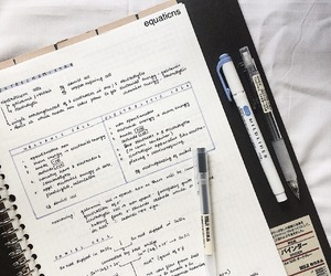 study, notes, and office image