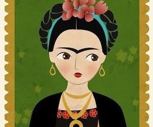 frida kahlo, wallpaper, and ilustracion image