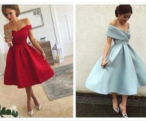 blue, red, and dress image