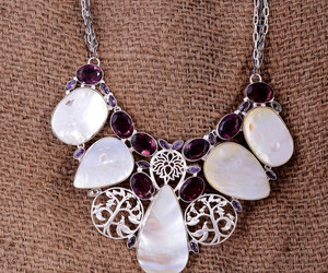 jewelry, amethyst necklace, and necklace image