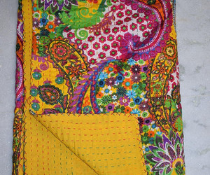 quilts, queen size quilt, and gudri floral print image