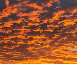 clouds, orange, and sky image