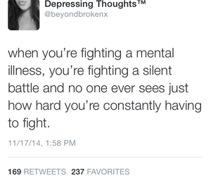 anxiety, fighting, and life image