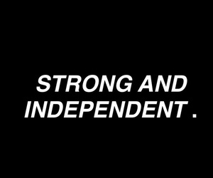 background, strong, and independent image
