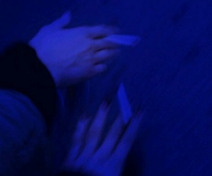 aesthetic, cigarette, and blue image