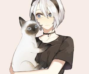 anime, cute girl, and fan art image