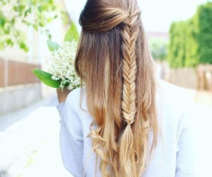 flower, hair, and hairstyle image
