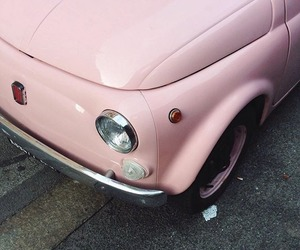 car, pale, and pink image