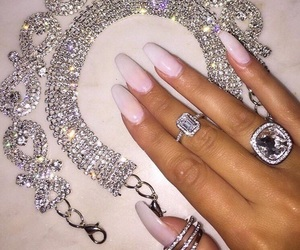 nails, luxury, and diamond image