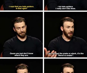 actor, chris evans, and funny image