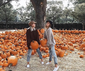 friends, pumpkin, and autumn image