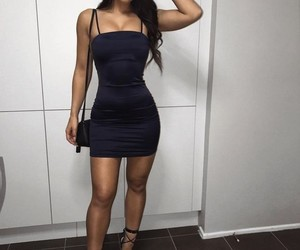 black dress, Figure, and girl image