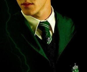harry potter, draco malfoy, and green image