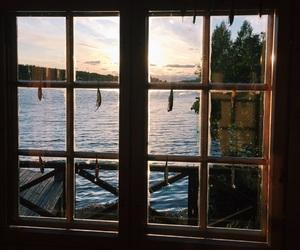 ocean, summer, and window image