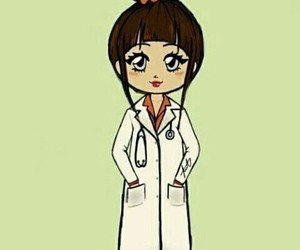 girly and little doctor image