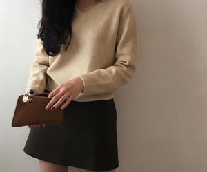 beige, outfit, and style image