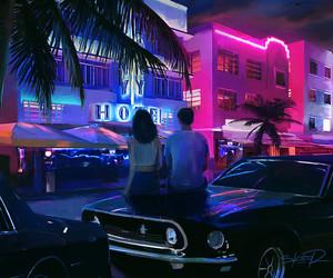 neon, aesthetic, and couple image