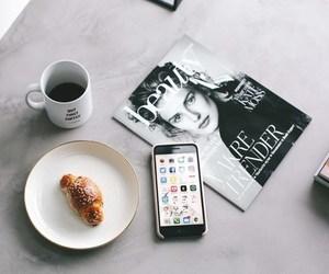 coffee, fashion, and iphone image