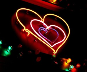 heart, neon light, and love image
