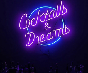 blue, Cocktails, and Dream image