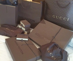 aesthetic, bags, and brown image