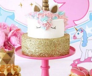 cake, unicorn, and unicorn cake image