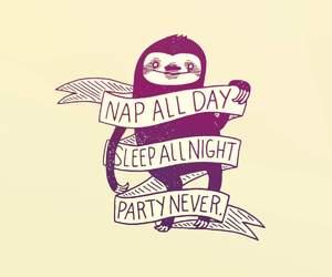 sleep, sloth, and nap image