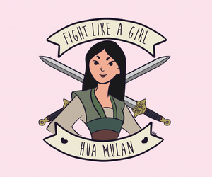 mulan, disney, and feminism image