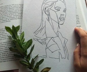 plants, girl, and drawing image