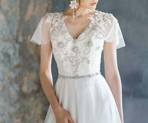 etsy, wedding gown, and lace wedding dress image