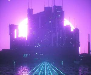 aesthetic, city lights, and neon image
