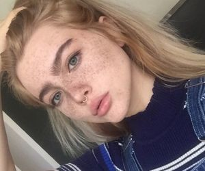 girl, aesthetic, and freckles image