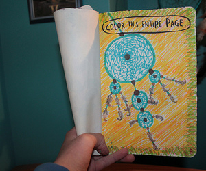 book, dreamcatcher, and wreck this journal image
