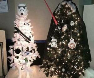 christmas, star wars, and trees image