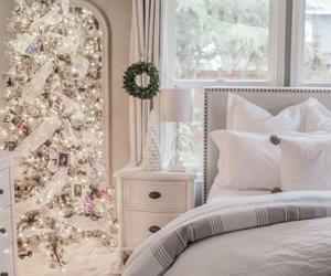 bedroom, christmas, and warm image