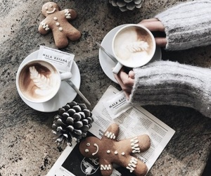 coffee, christmas, and winter image