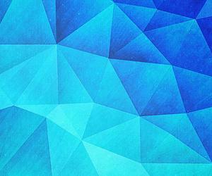 abstract, neon, and polygon image