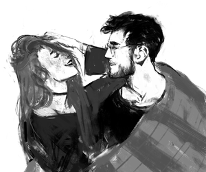 ginny weasley, harry potter, and blvnk-art.tumblr.com image