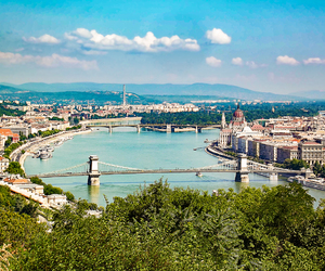 budapest, view, and hungary image