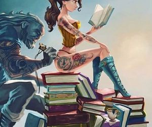 tattoo, disney, and book image