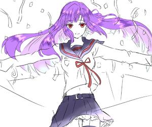 anime, girl, and violet image