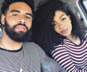 couple, curly hair, and goals image