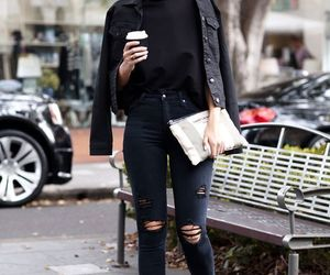 girl and outfit black image