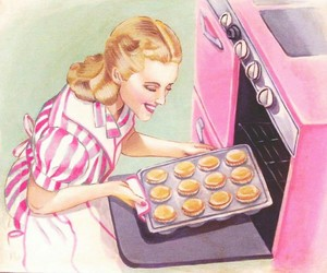1950s, baking, and Cookies image